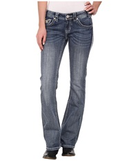 Rock And Roll Cowgirl Low Rise Bootcut In Medium Vintage W6 2452 Medium Vintage Women's Jeans Blue
