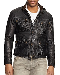 Polo Ralph Lauren Southbury Leather Bike Jacket Black