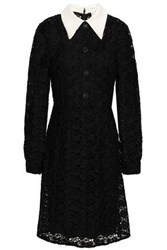 Mikael Aghal Woman Button Embellished Lace Dress Black