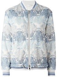 Ermanno Scervino Printed Bomber Jacket Blue