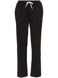 Fred Perry Logo Embroidered Track Trousers Black