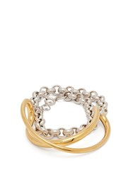 Charlotte Chesnais Initial Silver And Gold Plated Chain Bracelet