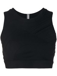 No Ka' Oi Textured Sports Bra Black