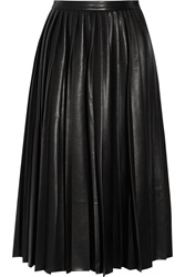 By Malene Birger Asla Pleated Faux Leather Skirt