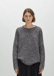 6397 Merino Boucle Sweater Black White