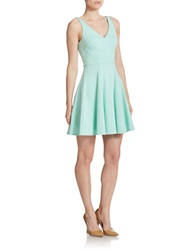 A.B.S. By Allen Schwartz Sleeveless V Neck Fit And Flare Dress Mint