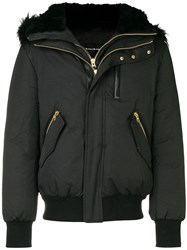 Mackage Fox And Rabbit Fur Trimmed Hood Park Black