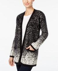 Styleandco. Style Co. Open Front Eyelash Cardigan Only At Macy's Deep Black Combo