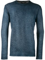 Avant Toi Textured Sweatshirt Blue