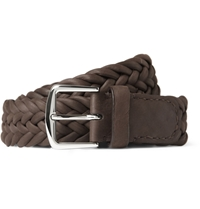 Loro Piana Woven Delon Leather Belt Brown