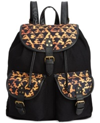 Rampage Fold Over Flap Backpack Aztec Cheetah