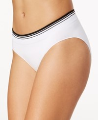 Jockey Sporties Striped Trim Bikini 2157 White