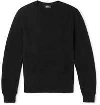 A.P.C. Colin Wool And Cotton Blend Sweater Black