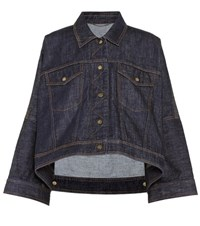 Kenzo Oversized Denim Jacket Blue