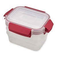 Joseph Joseph Nest Lock Compact Storage Containers Red Set Of 3