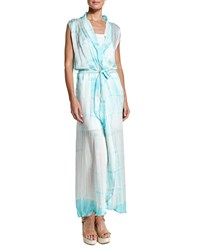 Letarte Royal Hawaiian Tie Dye Maxi Dress Seafoam