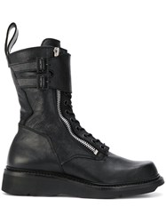 Julius Military Boots Calf Leather Leather Rubber Black