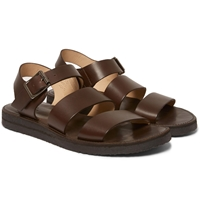 A.P.C. Crepe Sole Leather Sandals