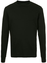 Attachment Long Sleeved T Shirt Black