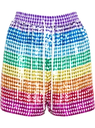 Ashish Sequinned Shorts Multicolour