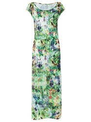 Lygia And Nanny Abstract Print Long Dress Green