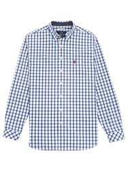 Joules Hewney Classic Fit Check Shirt Blue White