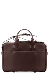 Men's Troubadour Leather Briefcase Brown Brown Leather
