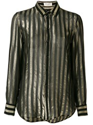Saint Laurent Striped Shirt Black