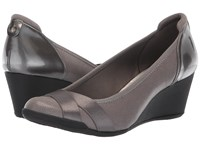 Anne Klein Timeout Wedge Heel Pewter Shoes