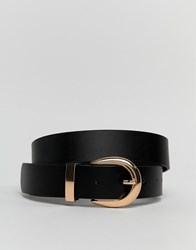New Look Leather Belt In Black