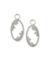 Jude Frances Provence 18K Open Oval Earring Charms With Diamonds