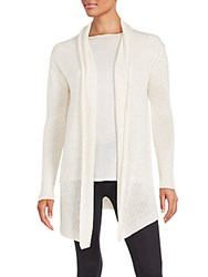 Inhabit Open Knit Shawl Cardigan Ivory