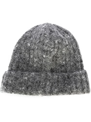 Our Legacy Knitted Beanie Hat Grey