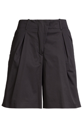 Jil Sander Pleated Cotton Shorts