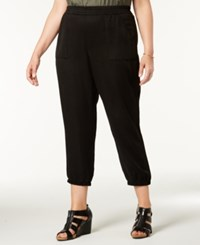 Styleandco. Style Co Plus Size Casual Joggers Deep Black