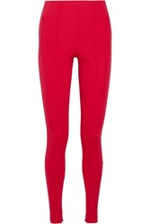 Balenciaga Stretch Jersey Leggings Red
