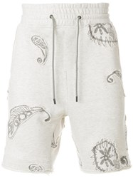 Wooyoungmi Embroidered Applique Shorts White