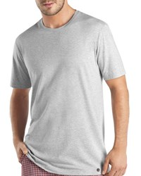 Hanro Night And Day Short Sleeve T Shirt Silver Melange