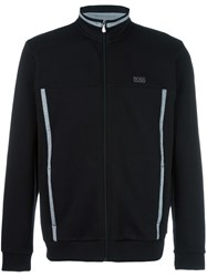 Hugo Boss High Neck Zipped Sweatshirt Black