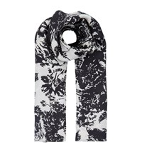 Escada Abstract Floral Scarf Female Black