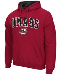Colosseum Men's Massachusetts Minutemen Arch Logo Hoodie Maroon