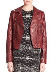 Parker Belfast Leather Moto Jacket Allure