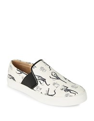 Karl Lagerfeld Elisha2 Toon Dancing Slip On Sneakers White Black