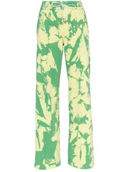 Off White Tie Dye Trousers Green