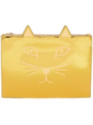 Charlotte Olympia 'Kitty' Clutch Metallic