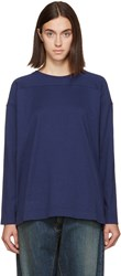 Chimala Navy Cotton Pullover