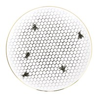 Rory Dobner Perfect Plates Bees All Over Black And White