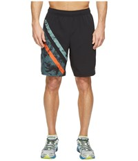New Balance Max Intensity Shorts Black Print Alpha Orange Men's Shorts