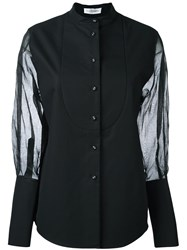 J.W.Anderson Sheer Sleeve Buttoned Shirt Black