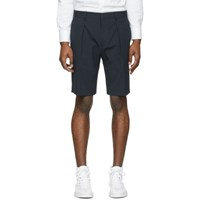 Boss Navy Seersucker Shorts